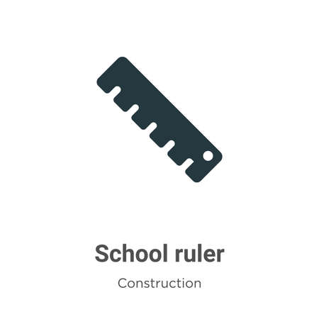 School ruler vector icon on white background. Flat vector school ruler icon symbol sign from modern tools collection for mobile concept and web apps design. Ilustracja