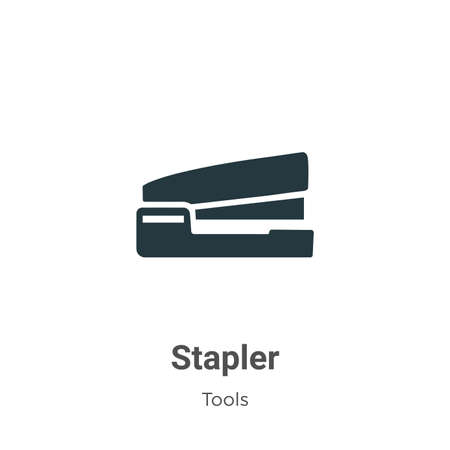 Stapler vector icon on white background. Flat vector stapler icon symbol sign from modern tools collection for mobile concept and web apps design.