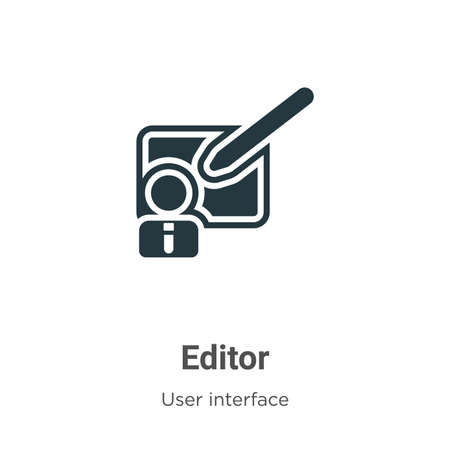 Editor vector icon on white background. Flat vector editor icon symbol sign from modern user interface collection for mobile concept and web apps design.