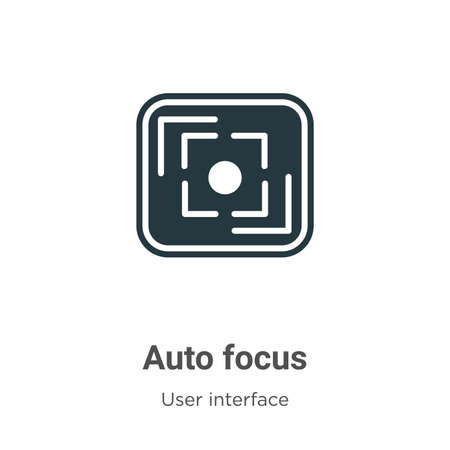 Auto focus vector icon on white background. Flat vector auto focus icon symbol sign from modern user interface collection for mobile concept and web apps design.