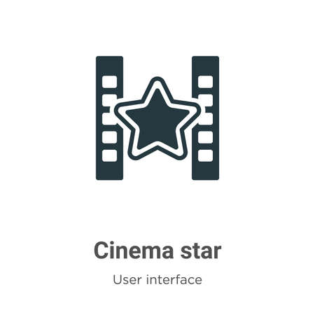 Cinema star vector icon on white background. Flat vector cinema star icon symbol sign from modern user interface collection for mobile concept and web apps design.