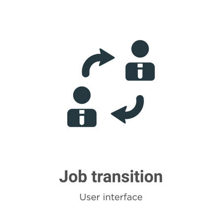 Job transition vector icon on white background. Flat vector job transition icon symbol sign from modern user interface collection for mobile concept and web apps design.