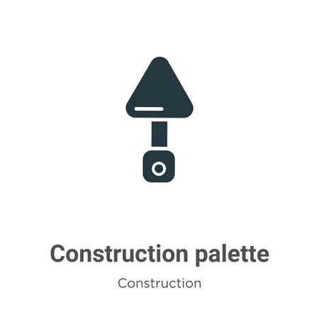 Construction palette vector icon on white background. Flat vector construction palette icon symbol sign from modern construction collection for mobile concept and web apps design.