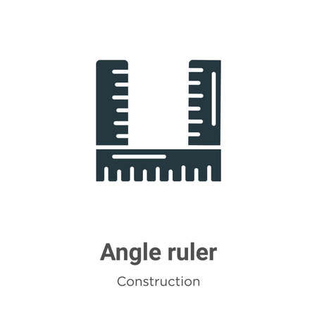 Angle ruler vector icon on white background. Flat vector angle ruler icon symbol sign from modern construction collection for mobile concept and web apps design.