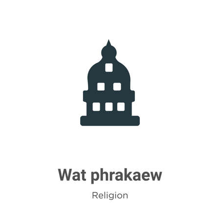 Wat phrakaew vector icon on white background. Flat vector wat phrakaew icon symbol sign from modern religion collection for mobile concept and web apps design.