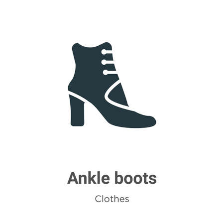 Ankle boots vector icon on white background. Flat vector ankle boots icon symbol sign from modern clothes collection for mobile concept and web apps design.