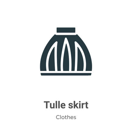 Tulle skirt vector icon on white background. Flat vector tulle skirt icon symbol sign from modern clothes collection for mobile concept and web apps design.