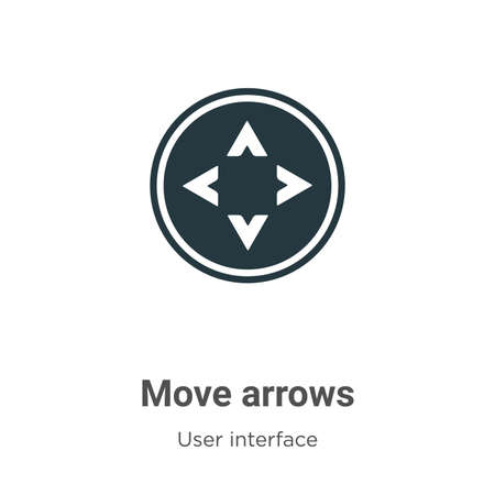 Move arrows vector icon on white background. Flat vector move arrows icon symbol sign from modern user interface collection for mobile concept and web apps design.