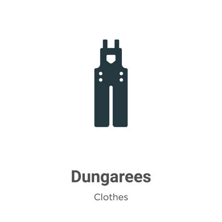Dungarees vector icon on white background. Flat vector dungarees icon symbol sign from modern clothes collection for mobile concept and web apps design. Vektorgrafik