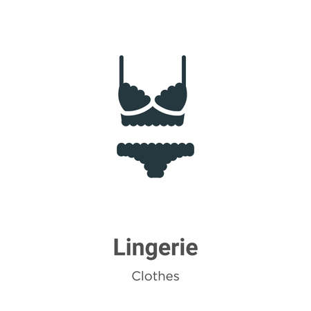 Lingerie vector icon on white background. Flat vector lingerie icon symbol sign from modern clothes collection for mobile concept and web apps design.