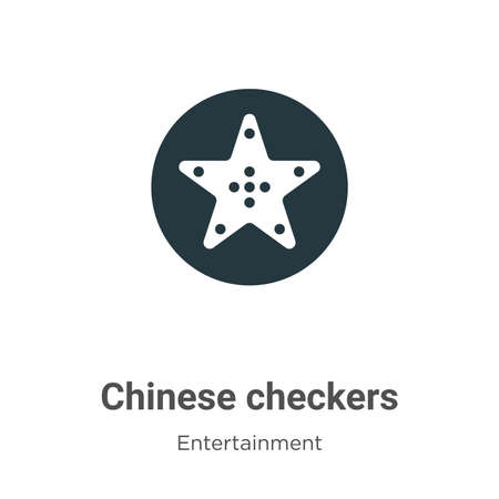 Chinese checkers vector icon on white background. Flat vector chinese checkers icon symbol sign from modern entertainment collection for mobile concept and web apps design.  イラスト・ベクター素材