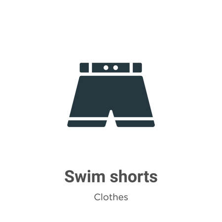 Swim shorts vector icon on white background. Flat vector swim shorts icon symbol sign from modern clothes collection for mobile concept and web apps design.