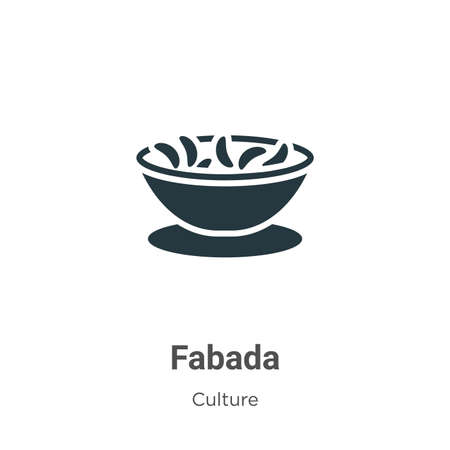 Fabada vector icon on white background. Flat vector fabada icon symbol sign from modern culture collection for mobile concept and web apps design.