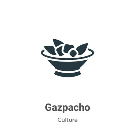 Gazpacho vector icon on white background. Flat vector gazpacho icon symbol sign from modern culture collection for mobile concept and web apps design. Illustration