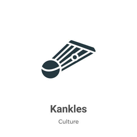 Kankles vector icon on white background. Flat vector kankles icon symbol sign from modern culture collection for mobile concept and web apps design.