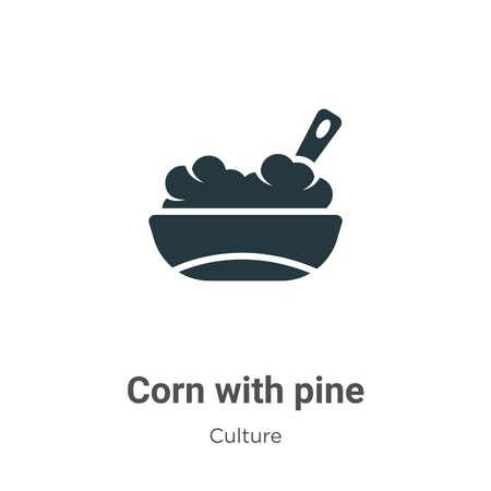 Corn with pine vector icon on white background. Flat vector corn with pine icon symbol sign from modern culture collection for mobile concept and web apps design.
