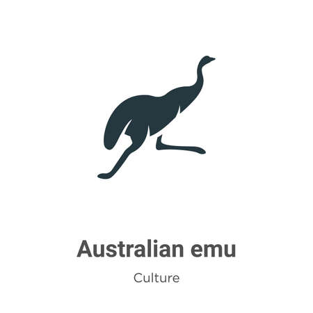 Australian emu vector icon on white background. Flat vector australian emu icon symbol sign from modern culture collection for mobile concept and web apps design.