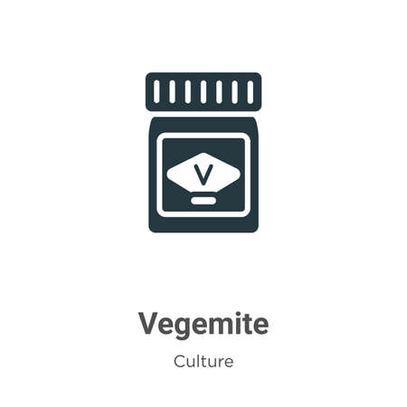 Vegemite vector icon on white background. Flat vector vegemite icon symbol sign from modern culture collection for mobile concept and web apps design.
