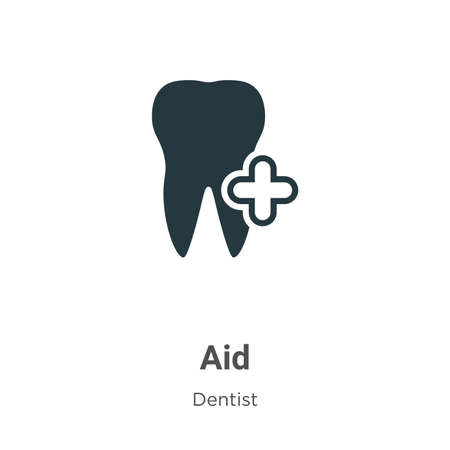 Aid vector icon on white background. Flat vector aid icon symbol sign from modern dentist collection for mobile concept and web apps design.