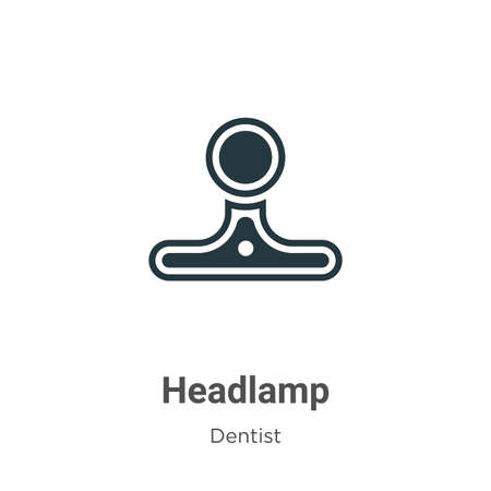 Headlamp vector icon on white background. Flat vector headlamp icon symbol sign from modern dentist collection for mobile concept and web apps design.