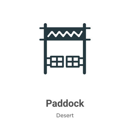 Paddock vector icon on white background. Flat vector paddock icon symbol sign from modern desert collection for mobile concept and web apps design. Ilustração