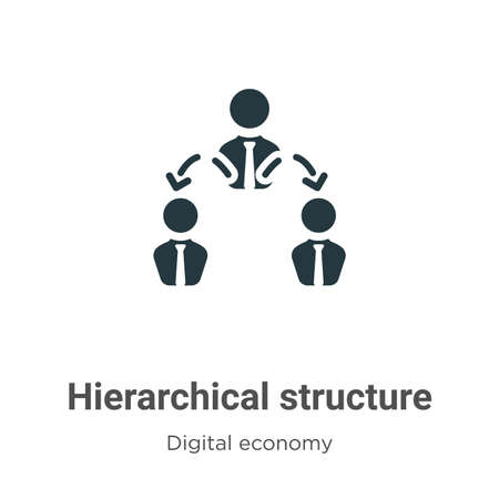 Hierarchical structure vector icon on white background. Flat vector hierarchical structure icon symbol sign from modern digital economy collection for mobile concept and web apps design. Vektoros illusztráció