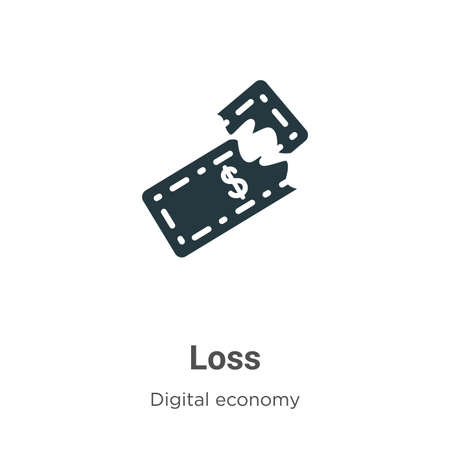 Loss vector icon on white background. Flat vector loss icon symbol sign from modern digital economy collection for mobile concept and web apps design.