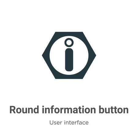 Round information button vector icon on white background. Flat vector round information button icon symbol sign from modern user interface collection for mobile concept and web apps design.