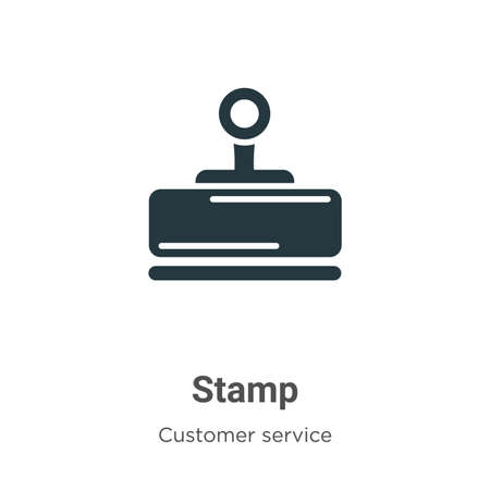 Stamp vector icon on white background. Flat vector stamp icon symbol sign from modern customer service collection for mobile concept and web apps design.