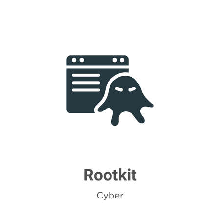 Rootkit vector icon on white background. Flat vector rootkit icon symbol sign from modern cyber collection for mobile concept and web apps design.