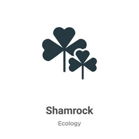 Shamrock vector icon on white background. Flat vector shamrock icon symbol sign from modern ecology collection for mobile concept and web apps design.