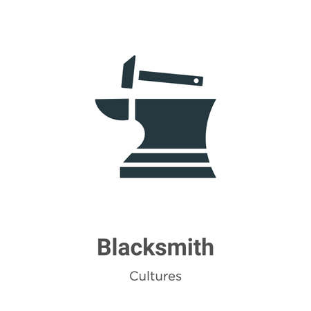 Blacksmith vector icon on white background. Flat vector blacksmith icon symbol sign from modern cultures collection for mobile concept and web apps design.
