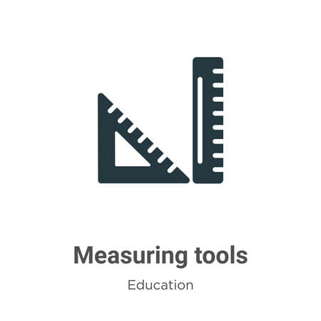 Measuring tools vector icon on white background. Flat vector measuring tools icon symbol sign from modern education collection for mobile concept and web apps design. Ilustracja