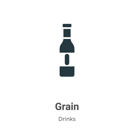 Grain vector icon on white background. Flat vector grain icon symbol sign from modern alcohol collection for mobile concept and web apps design. Ilustracja
