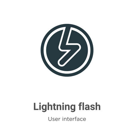 Lightning flash vector icon on white background. Flat vector lightning flash icon symbol sign from modern user interface collection for mobile concept and web apps design.