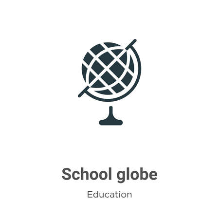 School globe vector icon on white background. Flat vector school globe icon symbol sign from modern education collection for mobile concept and web apps design. Ilustracja