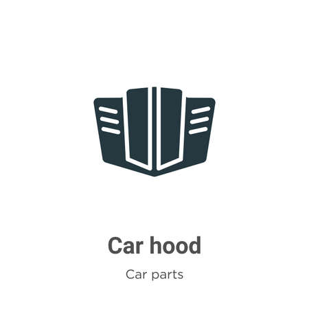 Car hood vector icon on white background. Flat vector car hood icon symbol sign from modern car parts collection for mobile concept and web apps design.