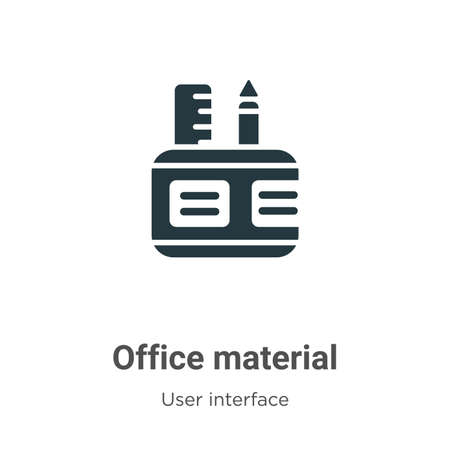 Office material vector icon on white background. Flat vector office material icon symbol sign from modern user interface collection for mobile concept and web apps design. Ilustracja