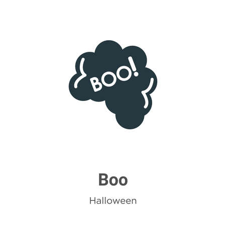 Boo vector icon on white background. Flat vector boo icon symbol sign from modern halloween collection for mobile concept and web apps design.