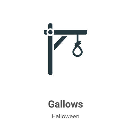 Gallows vector icon on white background. Flat vector gallows icon symbol sign from modern halloween collection for mobile concept and web apps design.