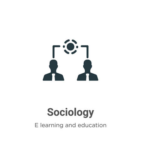 Sociology vector icon on white background. Flat vector sociology icon symbol sign from modern e learning and education collection for mobile concept and web apps design.