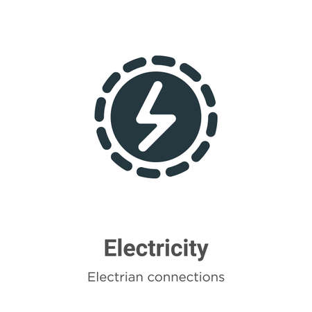 Electricity vector icon on white background. Flat vector electricity icon symbol sign from modern electrian connections collection for mobile concept and web apps design.