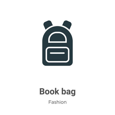Book bag vector icon on white background. Flat vector book bag icon symbol sign from modern fashion collection for mobile concept and web apps design.