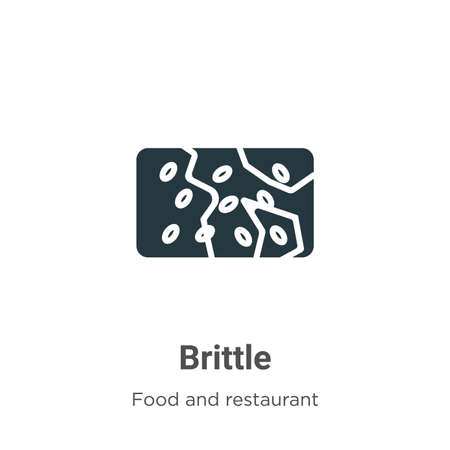 Brittle vector icon on white background. Flat vector brittle icon symbol sign from modern food and restaurant collection for mobile concept and web apps design.