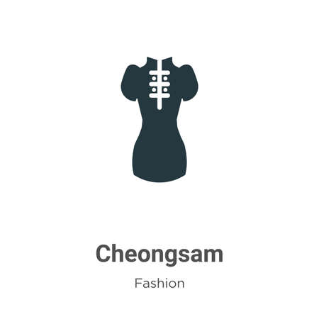 Cheongsam vector icon on white background. Flat vector cheongsam icon symbol sign from modern fashion collection for mobile concept and web apps design.