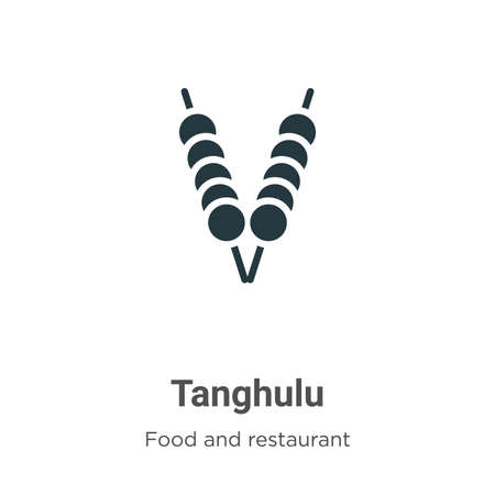 Tanghulu vector icon on white background. Flat vector tanghulu icon symbol sign from modern food and restaurant collection for mobile concept and web apps design.