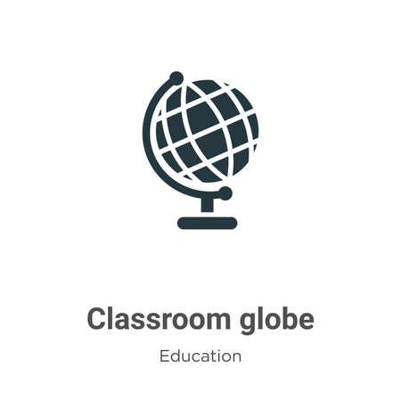 Classroom globe vector icon on white background. Flat vector classroom globe icon symbol sign from modern education collection for mobile concept and web apps design.
