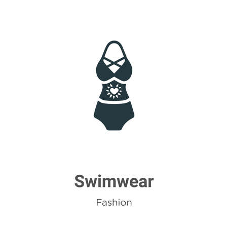 Swimwear vector icon on white background. Flat vector swimwear icon symbol sign from modern fashion collection for mobile concept and web apps design.