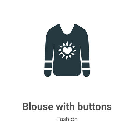 Blouse with buttons vector icon on white background. Flat vector blouse with buttons icon symbol sign from modern fashion collection for mobile concept and web apps design.