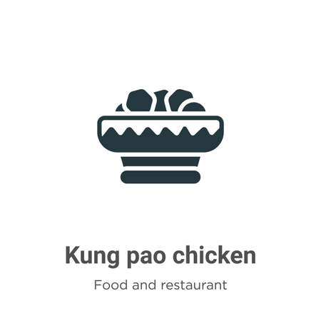 Kung pao chicken vector icon on white background. Flat vector kung pao chicken icon symbol sign from modern food and restaurant collection for mobile concept and web apps design.